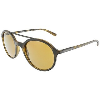 Giorgio Armani Men's AR8077-508983-50 Matte Brown Oval Sunglasses