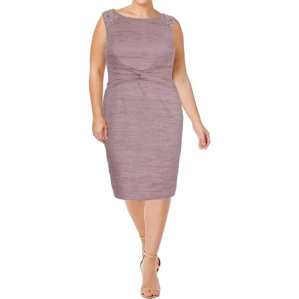 Jessica Howard Womens Missy Wear to Work Dress Embellished Sheath