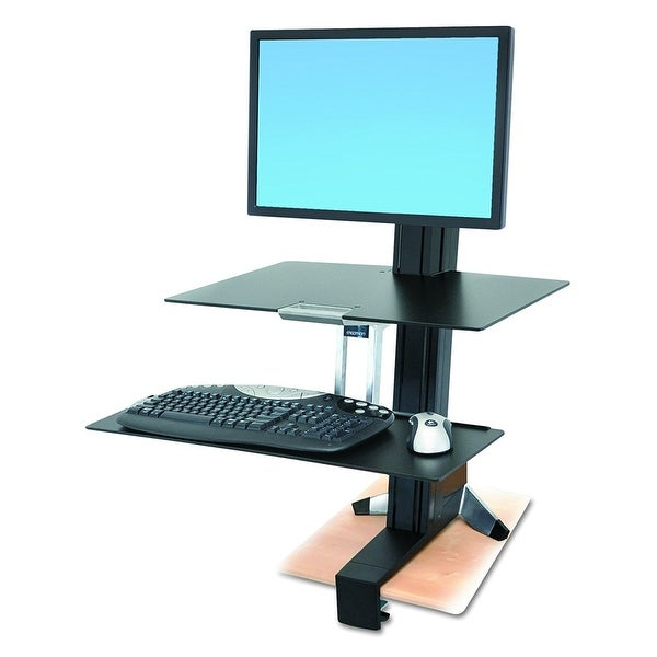 Ergotron 33-351-200 Workfit-S Lcd Hd Sit-Stand Workstation - Black