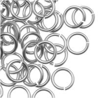 Artistic Wire, Chain Maille Jump Rings, 20 Ga / ID 3.57mm / 90pc, Tarnish Resistant Silver Plated