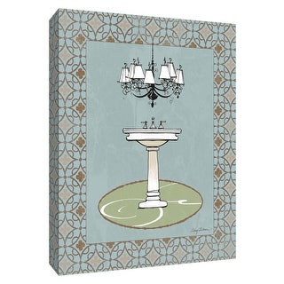 "PTM Images 9-154747  PTM Canvas Collection 10"" x 8"" - ""Chandelier Bath I"" Giclee Faucets Art Print on Canvas"