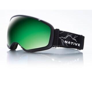 Native Eyewear 2017 Tank7 Ski Goggle - Striker Frame/Green Mirror Lens - 409 646 001