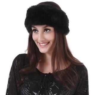 Mad Style Black Fur Headwrap