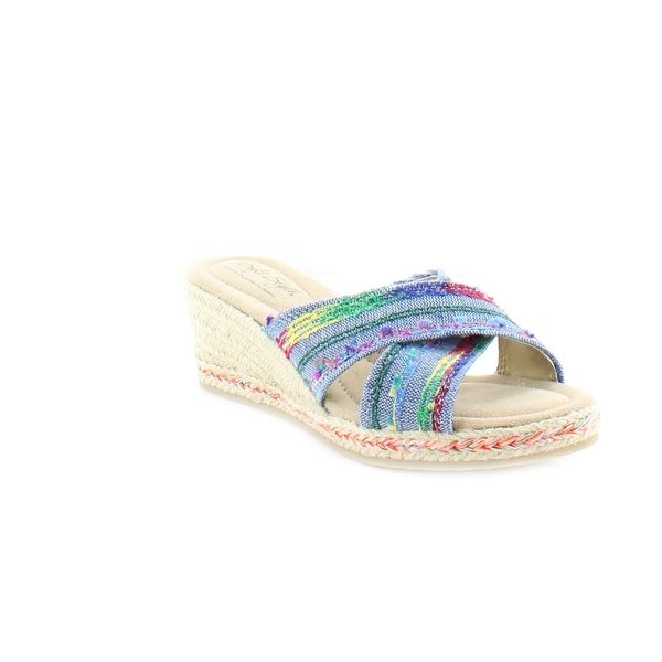 Soft Style by Hush Puppies Sade Women's Sandals & Flip Flops Denim Fringe - 11