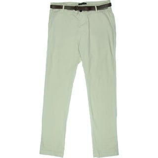 Zara Mens Belted Flat Front Casual Pants - 46