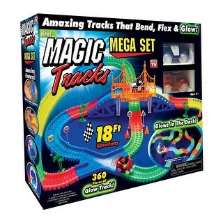 Magic Tracks TRACKSMEGA-MC4 As Seen on TV Glow in the Dark Car Race Tracks, Assorted Color