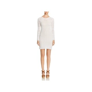 MICHAEL Michael Kors Womens Sweaterdress Crochet Long Sleeves