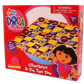 Nickelodeon Checkers & Tic Tac Toe Game Dora - multi