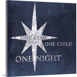 """""""One Star, One Child, One Night"""" Canvas Wall Art"""