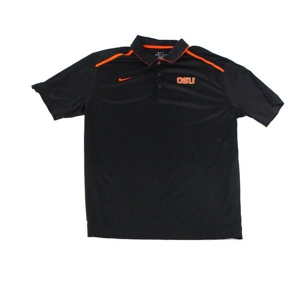 1100e722 Shop Nike Black Orange Mens Size XL OSU Football Dri-Fit Polo Shirt - Free  Shipping On Orders Over $45 - Overstock - 26984170