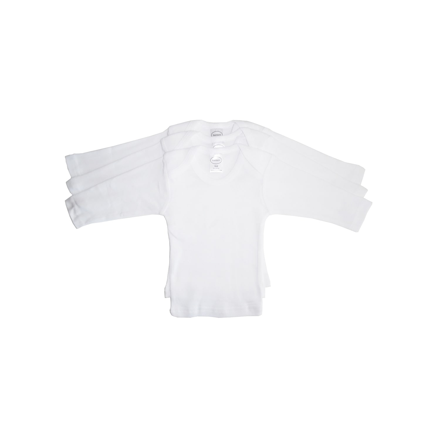 Bambini Baby Long Sleeve White Lap T-shirt