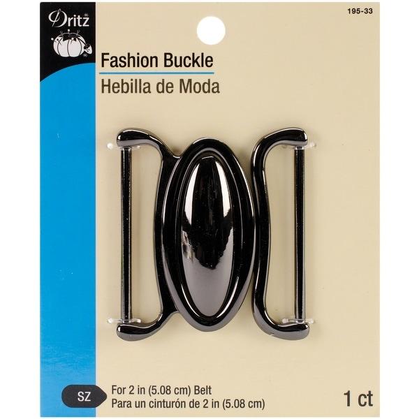"Fashion Buckle For 2"" Wide Belt-Gunmetal"