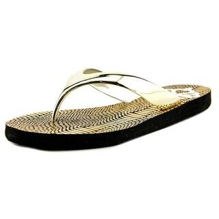 Fergalicious Majesty Women Open Toe Synthetic Gold Flip Flop Sandal