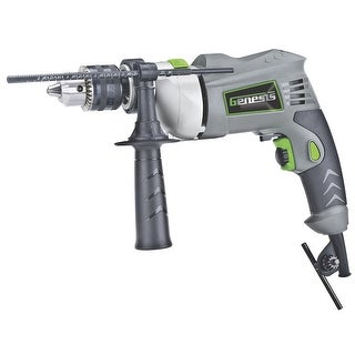 "Genesis GHD1260B VSR Hammer Drill, 6 Amp, 1/2"""