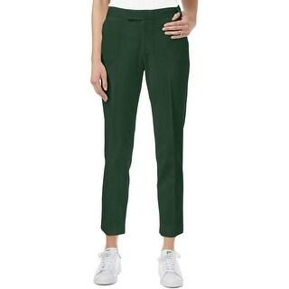 Rachel Rachel Roy Womens Straight Leg Pants Flat Front Zipper Detail