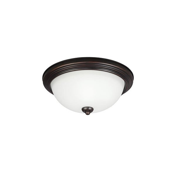 Sea Gull Lighting 79263BLE-710 Round ES Ceiling Flush Mount 1-L CFL Burnt Sienna - sienna finish