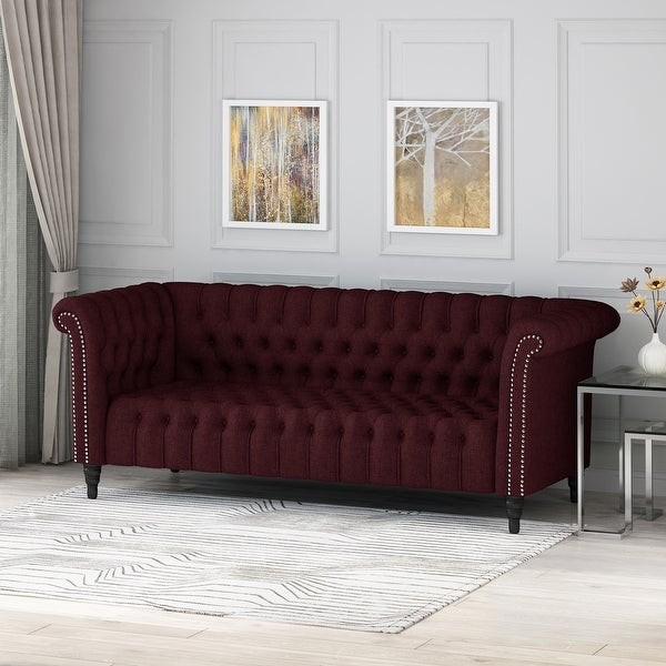 Barneyville Traditional Tufted Chesterfield Sofa by Christopher Knight Home. Opens flyout.