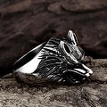 Vienna Jewelry Killer Wolf Stainless Steel Ring - Thumbnail 1