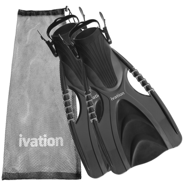 Ivation Adjustable Diving/Speed Fins with Mesh Bag