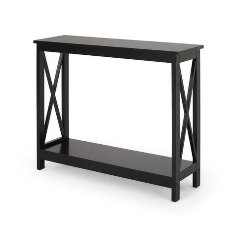 """Lomiller Farmhouse Accent Table by Christopher Knight Home - 39.50"""" W x 11.90"""" D x 31.90"""" H"""