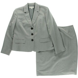 Evan Picone Womens Pinstripe 2PC Skirt Suit - 16
