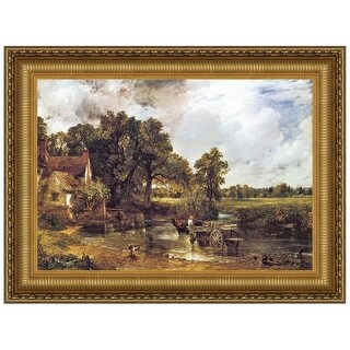 29.5X22.75 THE HAY WAIN 1821 DESIGN TOSCANO landscape framed art art framed