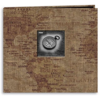 """Pioneer Travel Post Bound Album 12""""X12""""-World Map"""