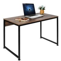 VECELO Desk Modern Style Metal and Wood Studio Computer Desk