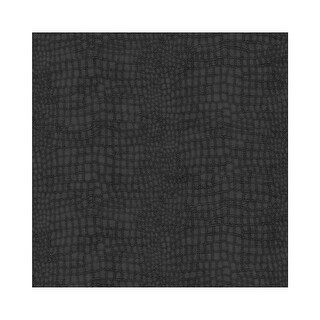 Graham and Brown 32-659 56 Square Foot - Crocodile Black - Non-Pasted Vinyl Wallpaper - n/a - N/A