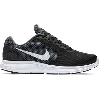 NIKE Men's Revolution 3 Running Shoe, Dark Grey/White/Black