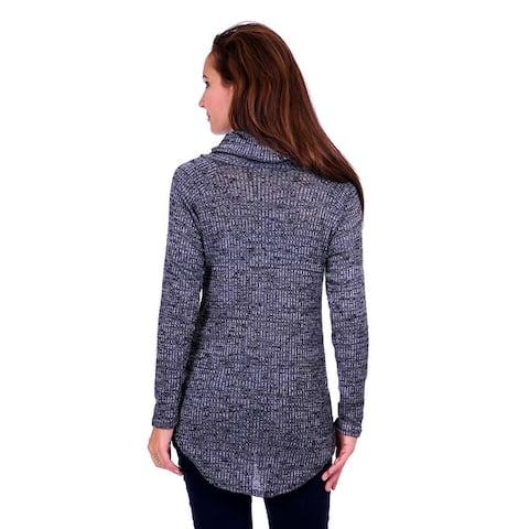 Simply Ravishing Women's Long Sleeve Stretchable Cowl Sweater