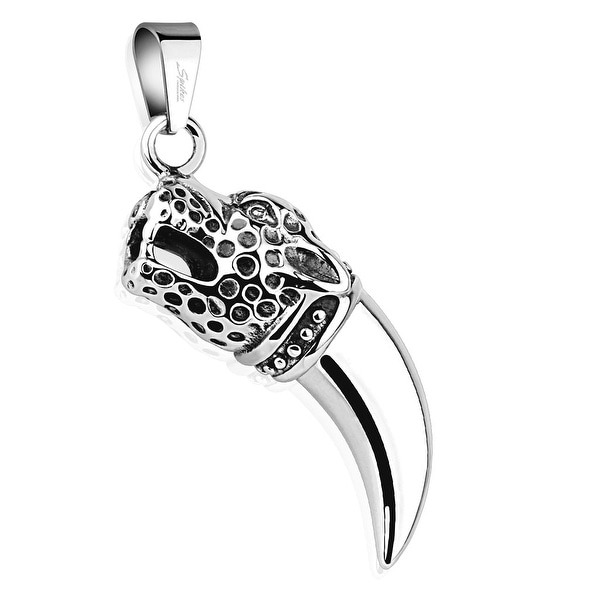 Leopard Tooth 316L Surgical Steel Pendant (16 mm Width)