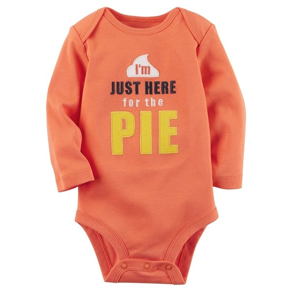 b215c9ea6 Shop Carter's Baby Boys' Here For The Pie Collectible Bodysuit, 18 Months -  Free Shipping On Orders Over $45 - Overstock.com - 19970848