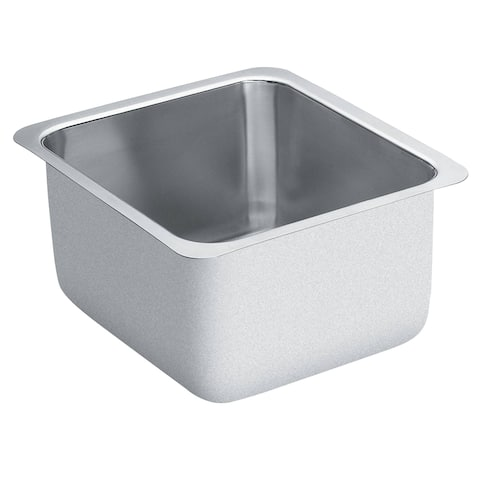 """Moen G18442 16"""" Single Basin Undermount Stainless Steel Bar Sink with SoundSHIELD Technology from the 1800 Series"""