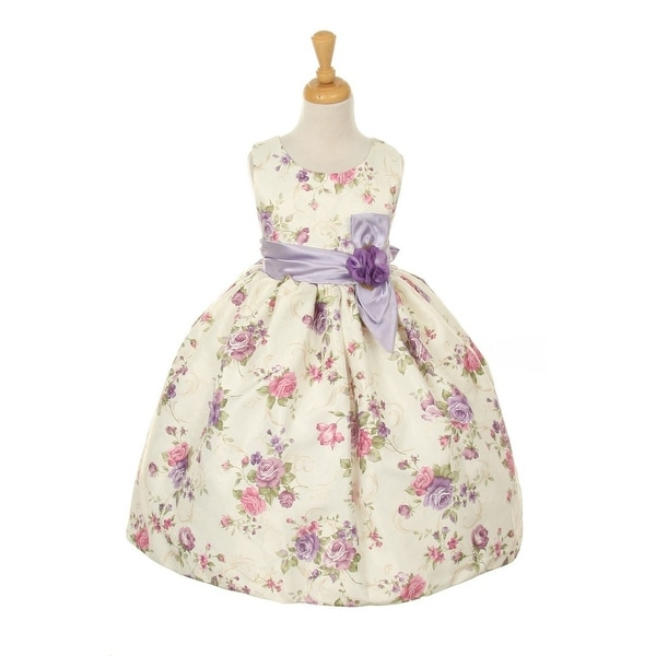 Cinderella Couture Baby Girls Pink Rose Printed Jacquard: Shop Cinderella Couture Girls Lavender Jacquard Bow