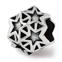 Sterling Silver Reflections Stars Bead (4.5mm Diameter Hole)