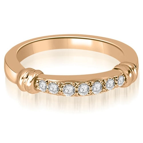 0.18 cttw. 14K Rose Gold Round Cut Diamond Wedding Band