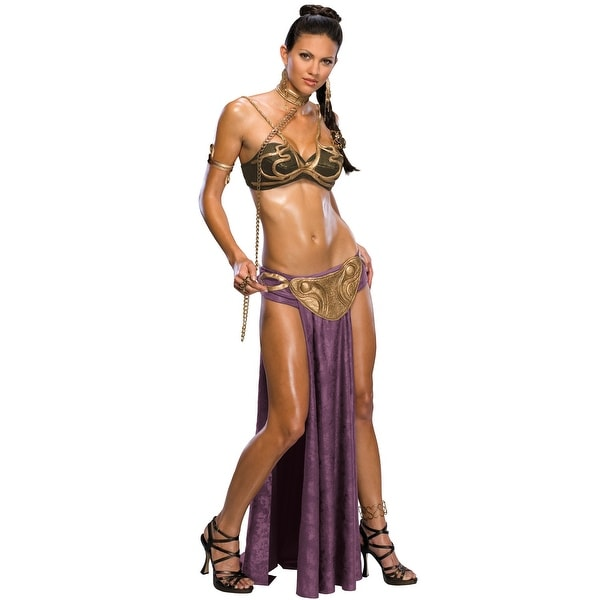 Rubies Star Wars Slave Princess Leia Adult Costume - Solid