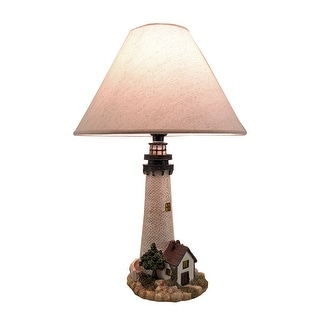 House On The Shore Decorative Lighthouse Table Lamp - White