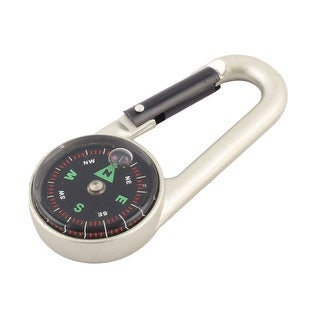 Metal Round Mini Dial Carabiner Hanging Compass for Travel Camping Hiking