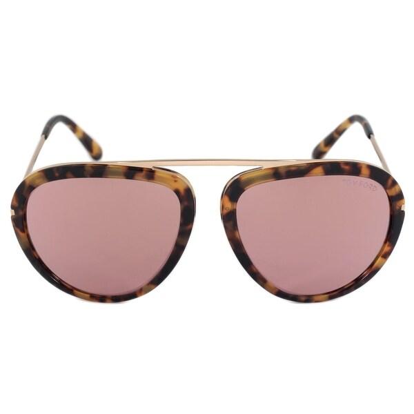 82cbd40f2fd6a Shop Tom Ford Stacy Aviator Sunglasses FT0452 53Z 57