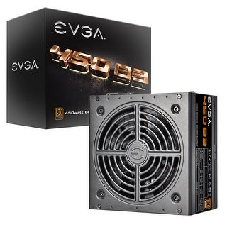 EVGA 450 B3, 80+ BRONZE 450W, Fully Modular, EVGA ECO Mode Compact 150mm Size, Power Supply 220-B3-0450-V1