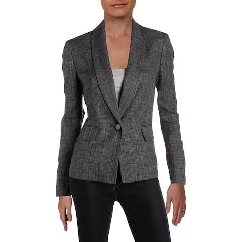 Le Suit Womens One-Button Blazer Melange Office