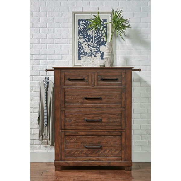 Simply Solid Shelba Solid Wood 5-drawer Chest. Opens flyout.