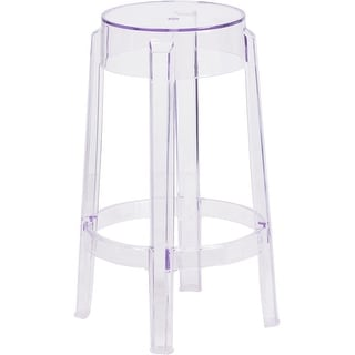 Asbury 25.75'' High Transparent Clear Counter Height Ghost Stool