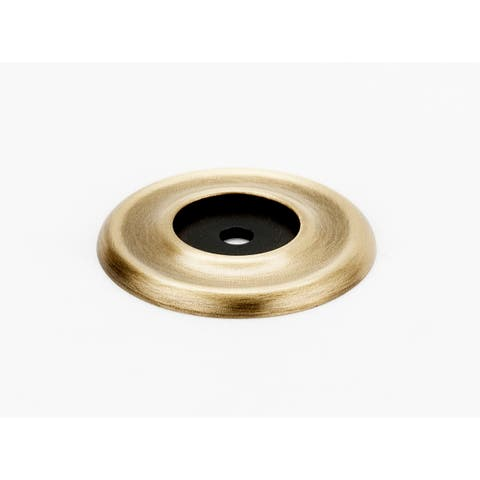 "Alno A615-38 Traditional 1-1/2"" Diameter Cabinet Knob Backplate with Beveled Edge"