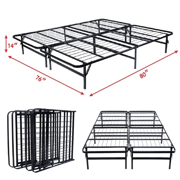 Shop Costway Platform Metal Bed Frame Mattress Foundation