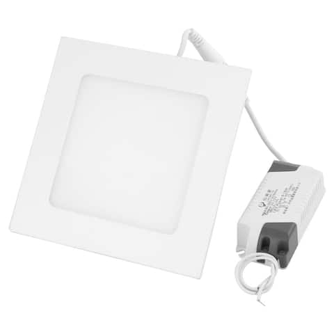 White 9W Square Home Dimmable LED Recessed Ceiling Panel Down Light AC85-265V