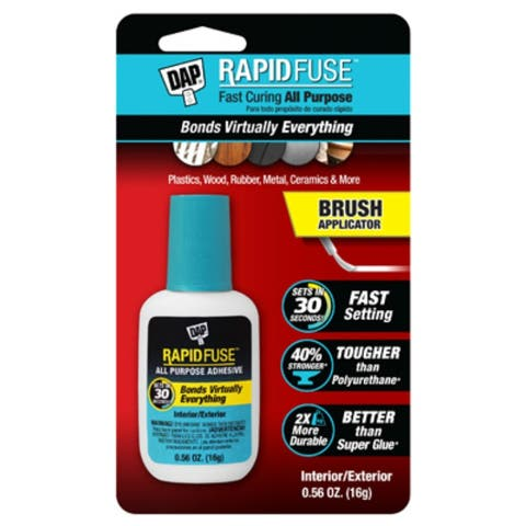 Dap 00173 RapidFuse Fast Curing All-Purpose Adhesive w/Brush Applicator, 16-Gm