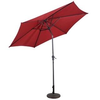Superieur Costway 9FT Patio Umbrella Patio Market Steel Tilt W/ Crank Outdoor Yard  Garden Burgundy